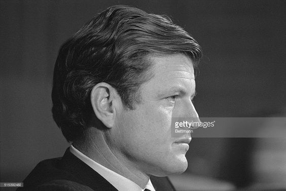 Senator Edward M. Kennedy (D-Mass.) listens to testimony at the opening of hearings before his Administrative Practices and Procedures subcommittee on draft reforms which Senator Kennedy said that President Nixon could make 'with the stroke of his pen.' On October 30, Senator Kennedy was granted the right to a closed inquest in the death last July 18 of Mary Jo Kopechne.