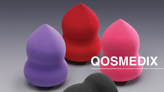 Qosmedix Oblong Blending Sponges:  A makeup artist's tools are just as important as the makeup itself, which is why Qosmedix carries the highest quality cosmetic sponges, designed for professional application.