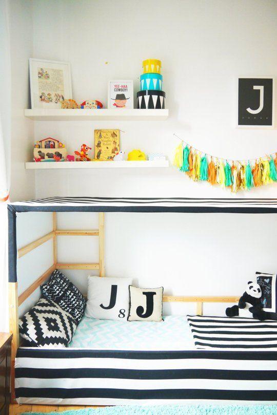 lit cabane IKEA Hack lit Kura  Vincents Zimmer  Pinterest  Turquoise, Thé