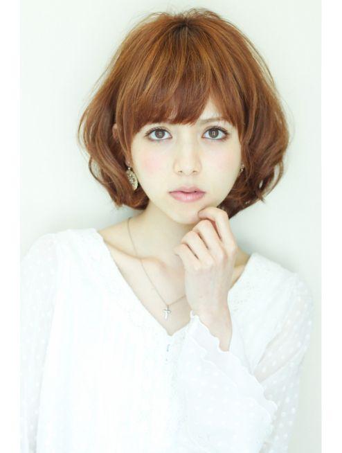 アフロートジャパン Afloat Japan 大人かわいいフェミニン大人ボブパーマ ボブパーマ ひし形 髪型 ヘアスタイル