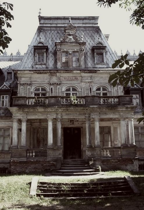 More views of the haunted derelict palace in Poland.    Shame to see such a wonderful building going to ruin!