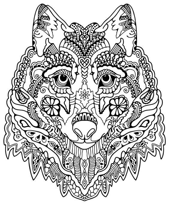 Mandalas De Lobos Faciles