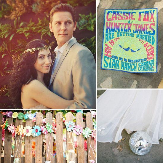 1970s inspired wedding