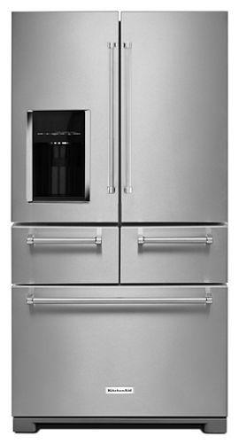 25 8 Cu Ft 36 Multi Door Freestanding Refrigerator With Platinum Interior Design Appliances Kitchen Stainless Steel Kitchen Aid Appliances French Door Refrigerator