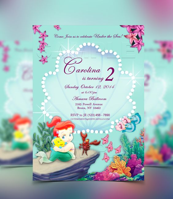 little mermaid invitation birthday pinterest mermaid invitations