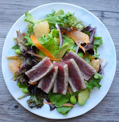 ... tuna salad with mizkan ponzu moroccan spiced seared rare tuna recipe