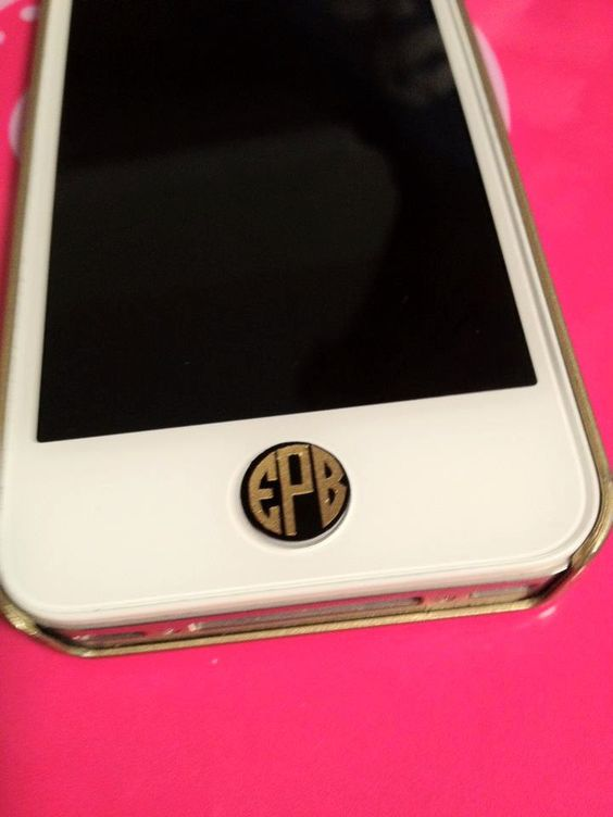 Set of 4 Iphone Button Monograms >> @askale martin I Am Getting This.  That is all.
