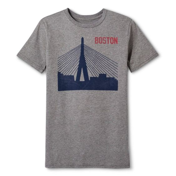 Boston Local Pride by Todd Snyder Men's Boston Bridge Tee - Heather Gray M, Size: Medium