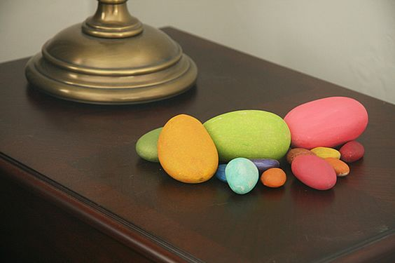 Painted Rocks for Easter Eggs - Perfect Boy Craft