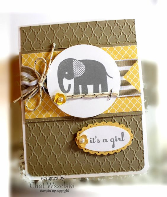 Stampin' Up It's a Girl Card