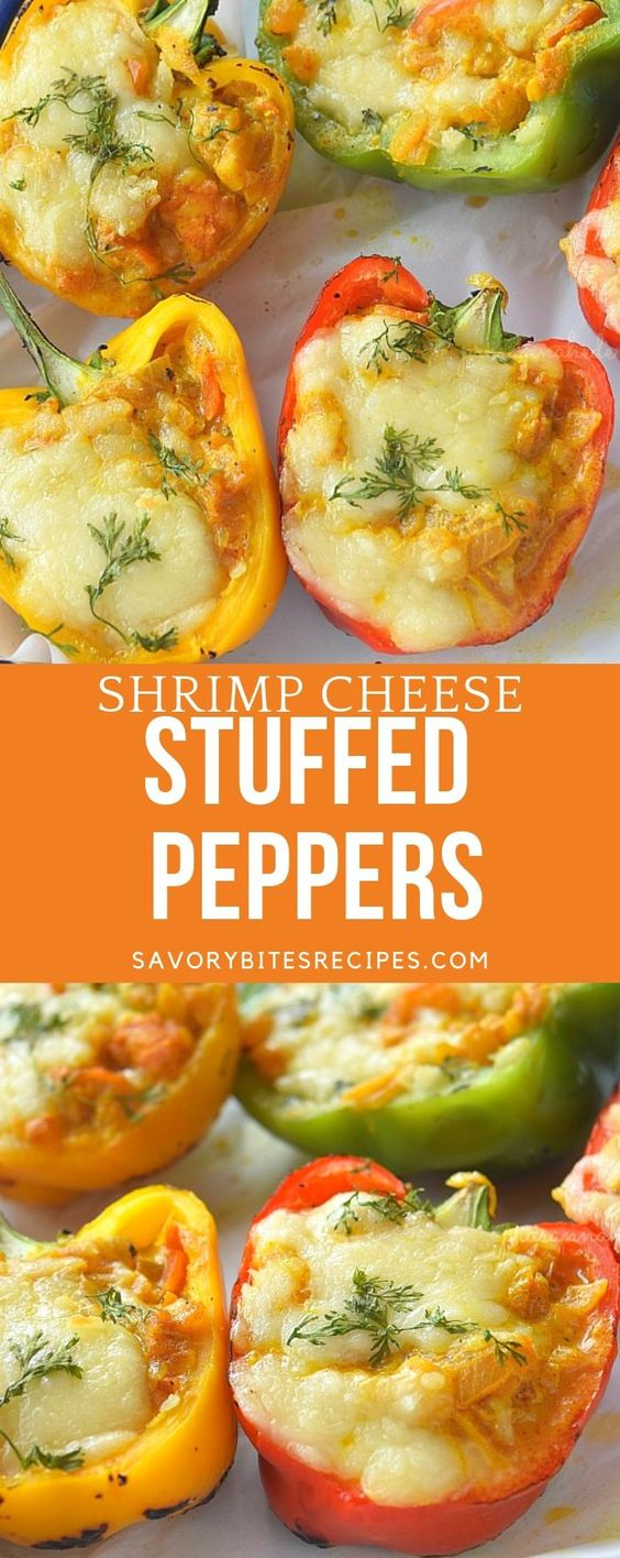 Shrimp and Cheese Stuffed Peppers!