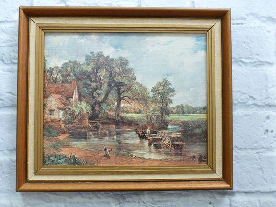 1821 classic art fridge magnet John Constable The Hay Wain