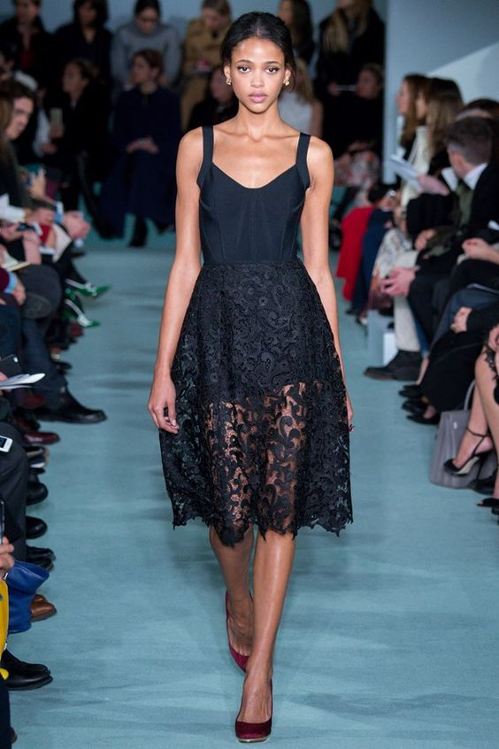 Oscar de la Renta peek-a-boo dress.