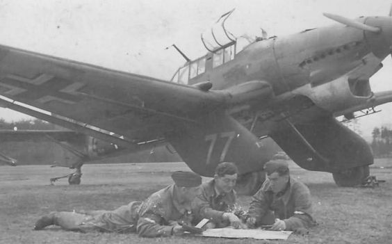 """Ju 87 A-1 """"77"""" code  GJ+NV WNr.5008 of the StS 2 Bad Aibling September 1941"""