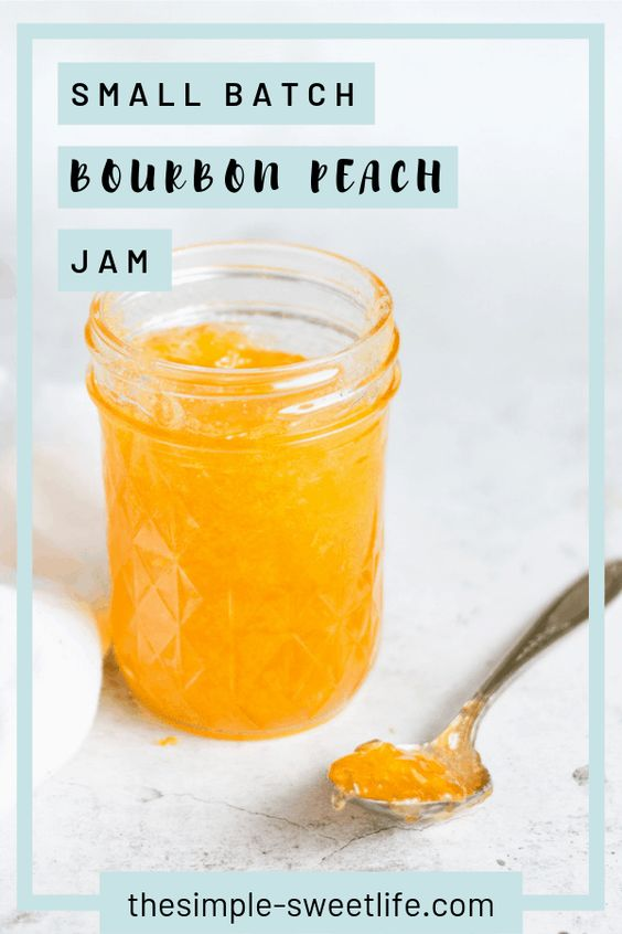 Small Batch Bourbon Peach Jam