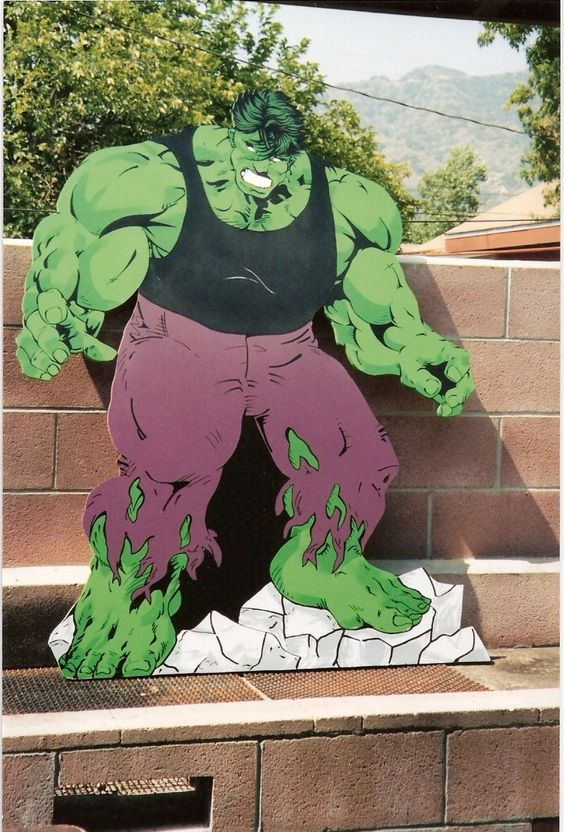 Hulk Stand Up And Cut Outs On Pinterest