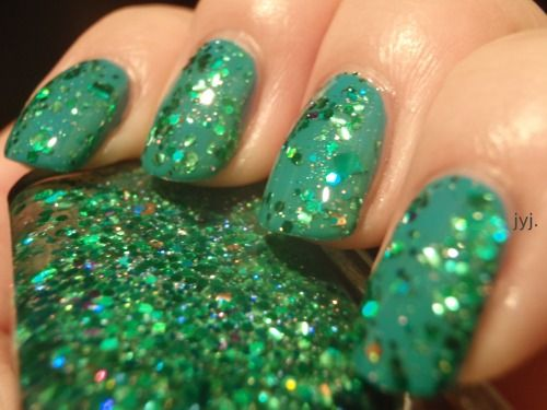 Lynnderella I Can Afford It! from the Funny Money Collection 2011.    Layered over OPI Fly