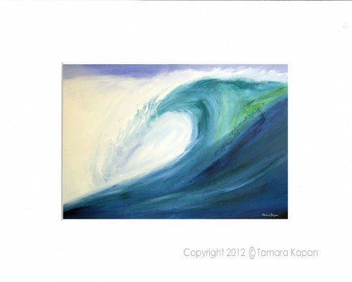 "5 x 7 Matted Wave Art Print by Tamara Kapan titled ""Blue Wave"" - fits an 8 x 10 inch frame Artdivas http://www.amazon.com/dp/B009CL34SS/ref=cm_sw_r_pi_dp_BMguvb1FAB8FT"