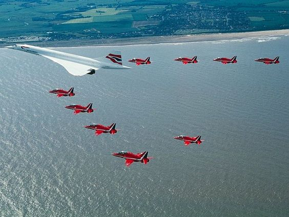 "Concorde: ""Last Flight."" (With The Red Arrows.)"