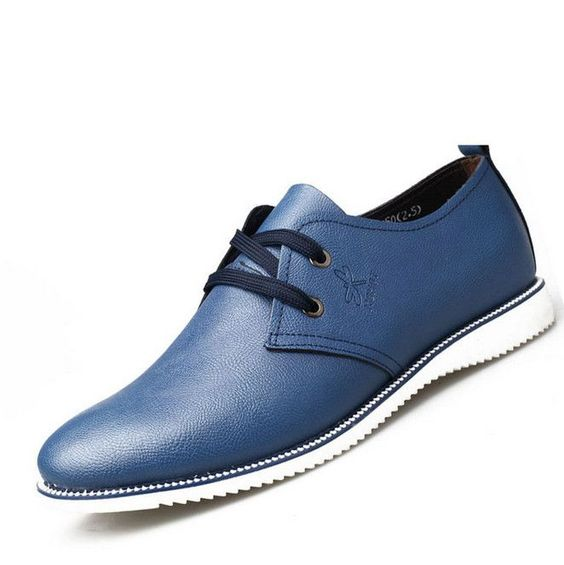 New Fashion Men Oxfords Summer Leather Shoes Mens Flats