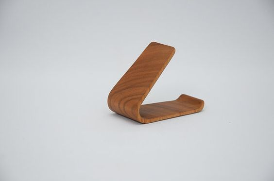 Teléfono soporte madera maciza madera de cerezo por iWoodDesignUA