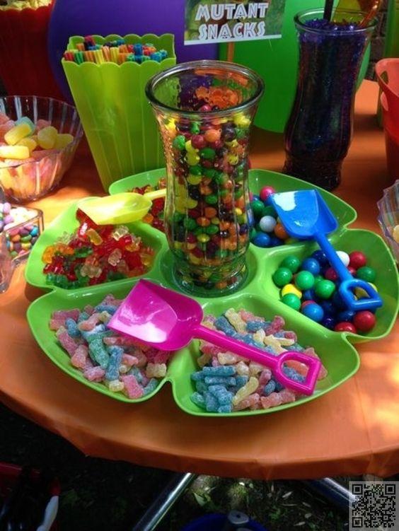 21. #Candy Bar - 23 totalement #génial faveurs en fête pour l'anniversaire d'un #garçon... → #Parenting