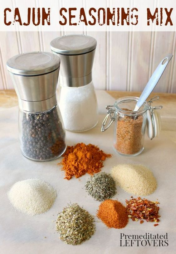 Do you love Cajun spiced food? Make your own Cajun Seasoning Mix with this recipe. This quick and easy Cajun Seasoning Recipe uses spices in your pantry. This seasoning mix is great on dinner recipes including chicken, fish, pasta, vegetables. It is also tasty on popcorn and nuts.