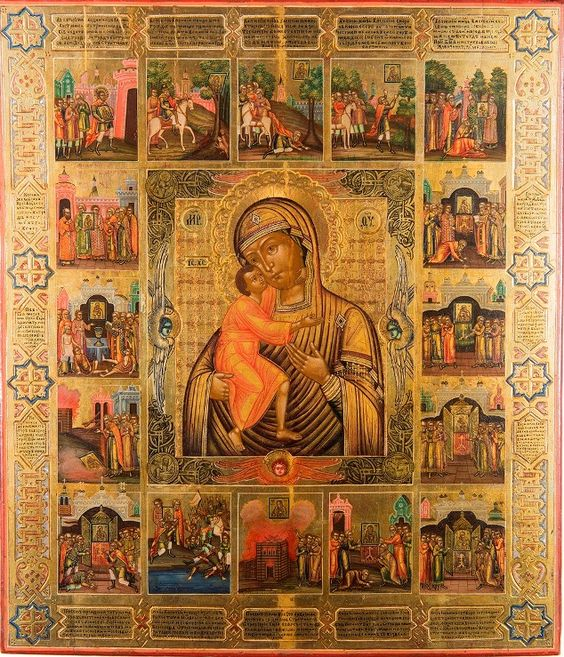The Feodorovskaya Icon of the Mother of God, with the Legend of the Icon