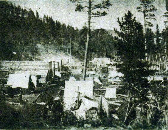 Deadwood, Dakota Territory in 1877. Courtesy of the Centennial Collection - Deadwood Public Library