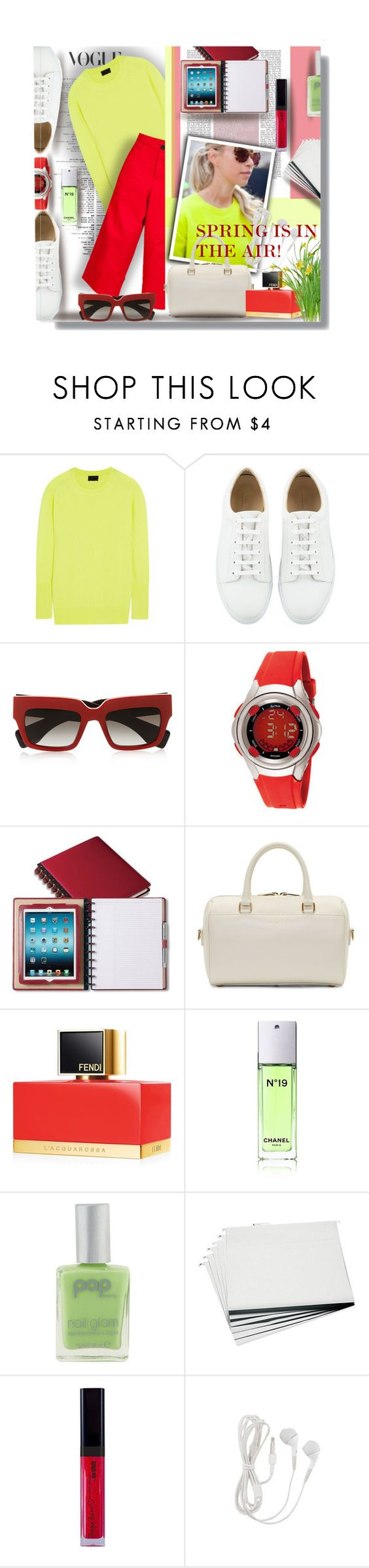 """""""SPRING IS IN THE AIR"""" by angelflair ❤ liked on Polyvore featuring J.Crew, Prada, Activa, Yves Saint Laurent, Fendi, Chanel, POP and Advantus"""