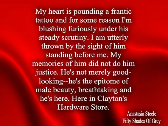 Fifty Shades Of Grey... This is the part in the first book where I was hooked!!
