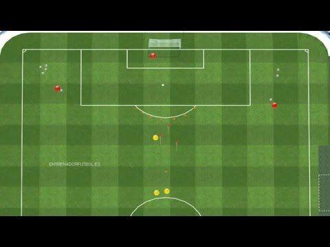Ejercicio de futbol de finalizacion con pases de precision - YouTube