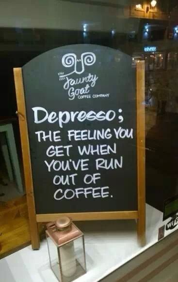 These marketers get it! Depresso it is! #Signage #Retail #Marketing