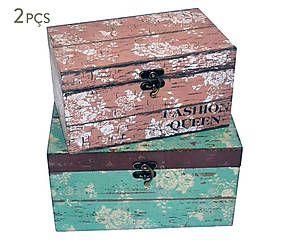 Conjunto de caixas painted