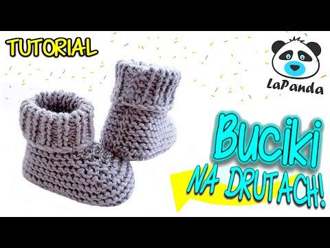 Proste Buciki Na Drutach Dla Niemowlaka 1 Jak Zrobic Lapanda Knitted Baby Shoes Eng Sub Youtube In 2021 Sewing Easy Diy Baby Knitting Baby Shoes