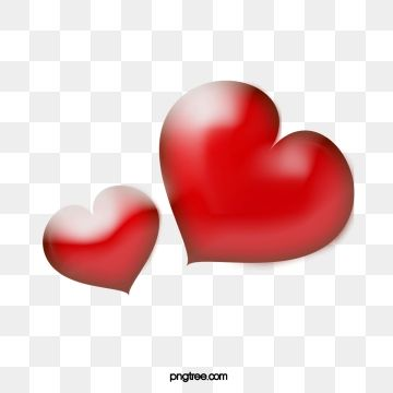 Vector Red Love Two Hearts Accord With Simple Peach Heart Love Png Paint Vector Heart Decorations