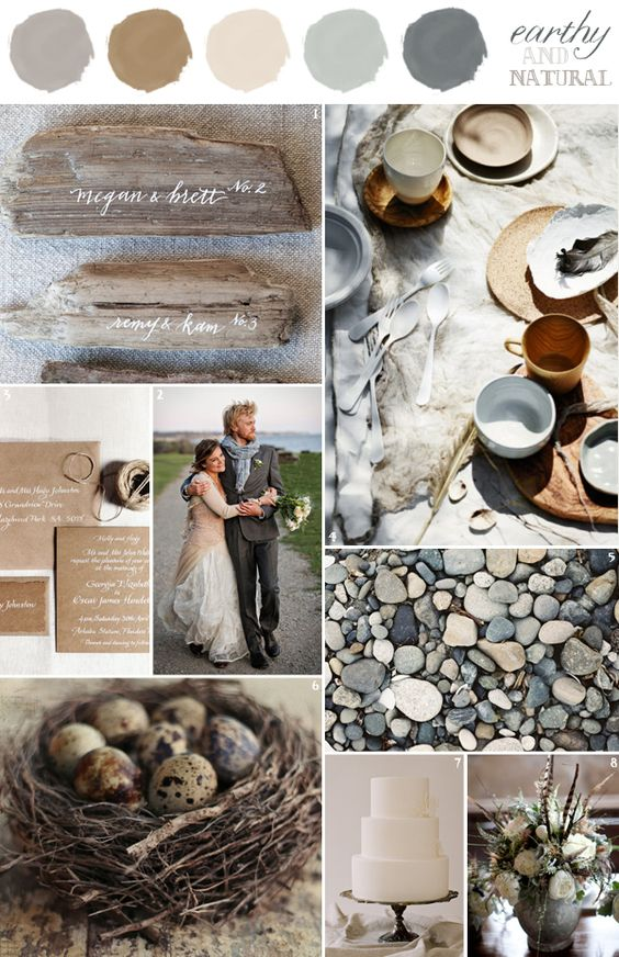 Wall Colour Inspiration: Wedding Colors Combination: Earthy And Natural: Grey
