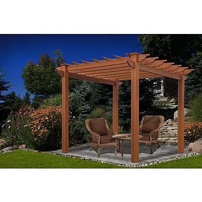 New England Arbors Lakewood 6.5' x 6..5' Composite Pergola