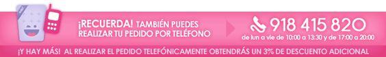 3% DE DESCUENTO EN PEDIDOS POR TELÉFONO.