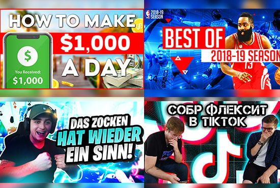 You Have A Yt Channel And Need A Thumbail This Gig Is Perfect For You I Have More Than 5 Years Of Experien In 2020 Thumbnail Design Youtube Thumbnail Youtubers Funny