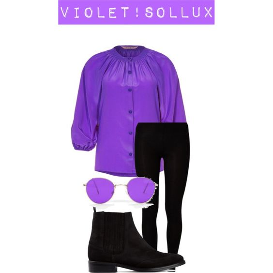 Violet!Sollux by electrickittykat on Polyvore featuring Tucker, Majestic, Opening Ceremony, homestuck, sollux, bloodswap, Au and violetblood