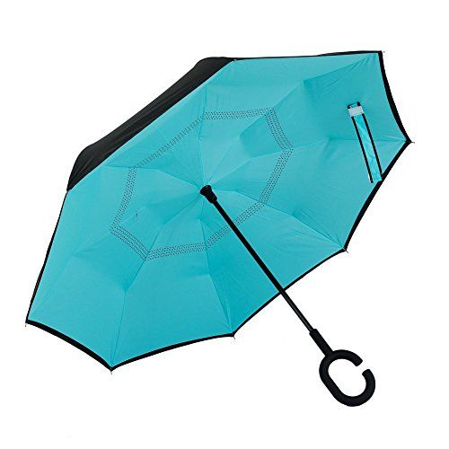 Inverted Umbrella, Alink Reverse Folding Double Layer Ins...