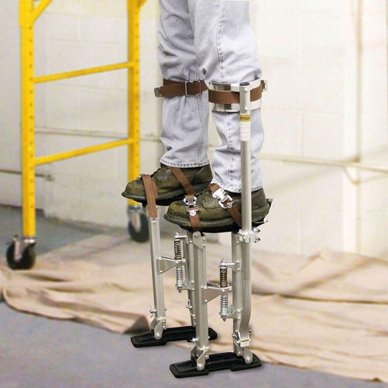PRO-SERIES 18 in. to 30 in. Adjustable Height Drywall Stilts-DS1830 - The Home…