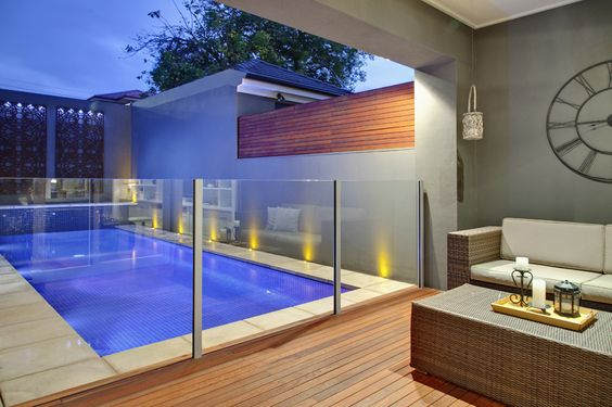 Open plan pool area
