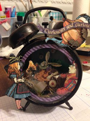 Altered Clock using Alice in Wonderland Paper