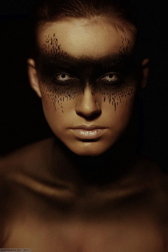 Creepy makeup. Love it for Halloween, maybe with a witch costume