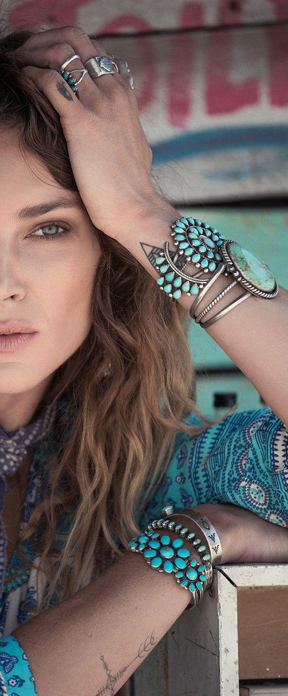 Boho jewels style: