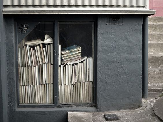 Books in a window    Reykjavik. Iceland, May 2012. Photo by Jacki Vance-Kuss