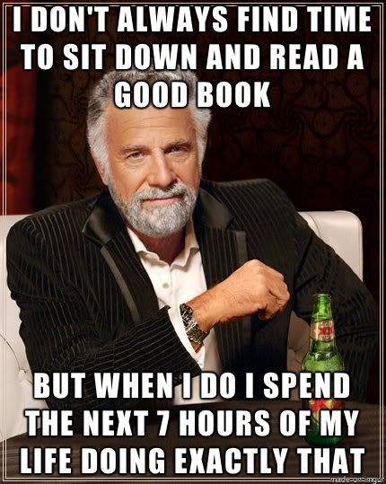 Sit down and read a good book: