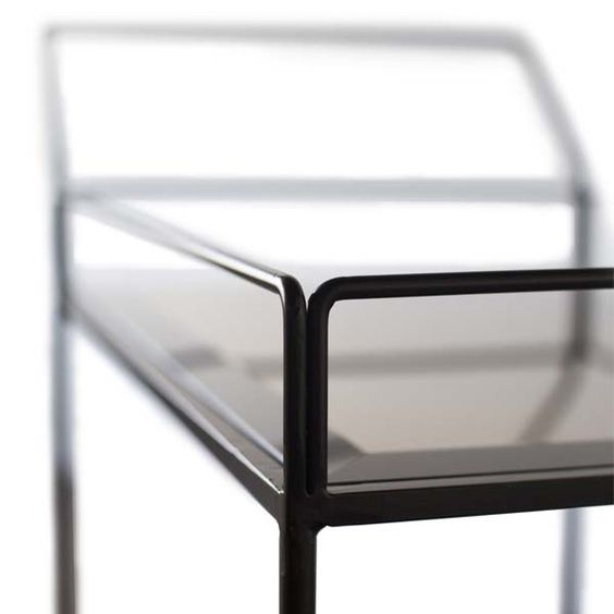 Notre Monde | Bar Cart with Bronze Mirror - NEW - 20750 - Bronze mirror shelves - metal frame